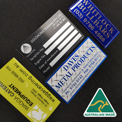 Australian Made Nameplates, Badges and Labels